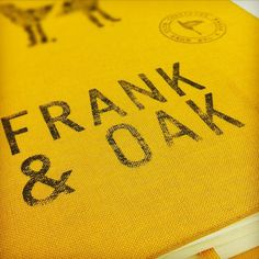 Frank & Oak | Écorce Atelier Créatif #oak #print #book #cover #frank #and #typo