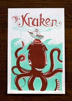 Monster Friends Poster Series – The Avant Garage #monster #illustration #poster #kraken