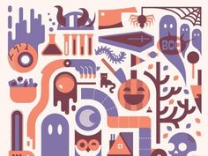 Dribbble - Halloweenie by Ryan Brinkerhoff #print #design #halloween #illustration