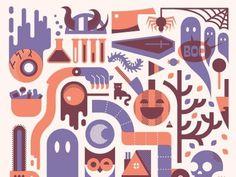 Dribbble - Halloweenie by Ryan Brinkerhoff #print #design #illustration #halloween