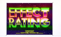 EFFECT RATING www.michielschuurman.com #design #graphic