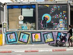 Street Art in Tel Aviv, Israel - JOQUZ #lego #mural #art #street #walls