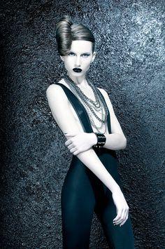 Fashion photography #black #white #woman #fashion