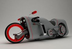 vehicle, motorcycle, custom, gray, red