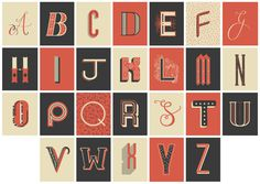 Decorative Lettergin Postcards by Rachel Brown #letters #typography