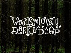 Dribbble - The Woods are Lovely by Jeff Jenkins #typography