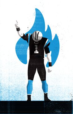 CAM1 #Illustration by Matt Stevens #Sports #NFL #Carolina #Panthers #Illustration #American #Football