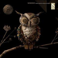 Los-Angeles-Zoo-wisdom.jpg 1,200×1,200 pixels #paper #owl