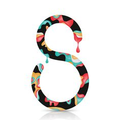 36 days of type on Behance #lettering #swirl #design #paint #art #type #drip #typography