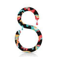 36 days of type on Behance #lettering #swirl #design #paint #art #type #drip #typography