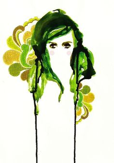 All sizes | * | Flickr - Photo Sharing! #abstract #woman #portrait #face #watercolour