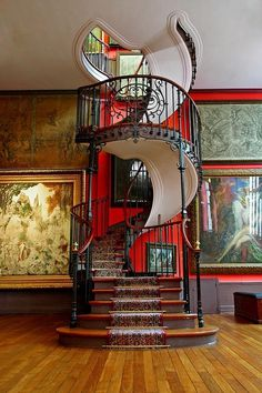 Spiral Staircase, National Museum, Paris. #staircase #paris #museum #spiral #national