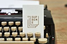 """Supreme"" by Smalltime Projects #typewriter #logo #minimal #clean"