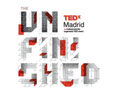 "TEDxMadrid ""The Unfinished"" on Behance #red #ted #madrid #unifinished #tedx #type #typography"