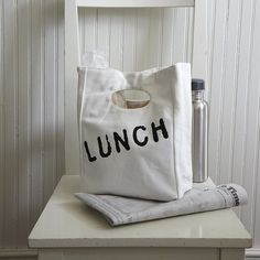 Organic Cotton Lunch Bag #tech #flow #gadget #gift #ideas #cool