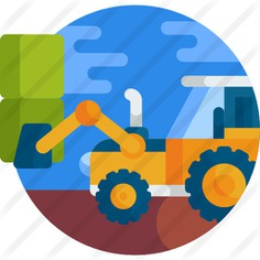 See more icon inspiration related to farming and gardening, construction and tools, agriculture, transportation, tractor, vehicle, transport and tool on Flaticon.