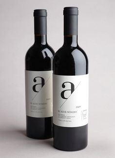 Adir Winery - TheDieline.com - Package Design Blog #wine #bottle #typo