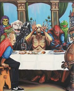 Tumblr #parody #skeleton #pop #sloth #spiderman #culture #vader #darth #sant