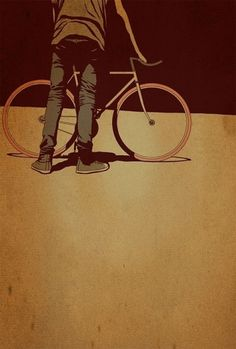 Adams Carvalho Illustrations | #bicycle #vintage #grungy