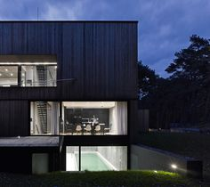ultra architects exudes strength in monolithic seaside house #pool