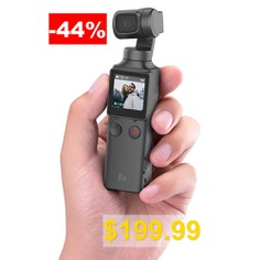 FIMI #PALM #3-Axis #4K #HD #Handheld #Gimbal #Camera #Pocket #Stabilizer #128° #Super #Wide #Angle #Anti-shake #Shoot #Smart #Track #Built-in #Wi-Fi #Bluetooth #Remote #Control #( #Xiaomi #Ecosystem #Product #) #- #BLACK