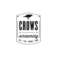 Sarah Armstrong // Visual Specialist #badge #white #crow #design #black #logo #crest #and #type