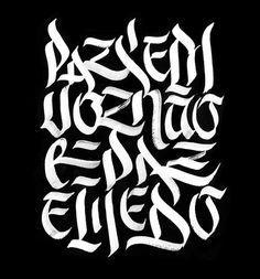 Paz sem voz - Poster #typography #lettering #hand-lettering