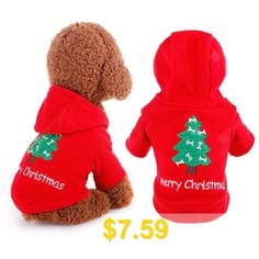 Cloth #Sweater #with #Christmas #Tree #Style #for #Pet #Dog #- #RED