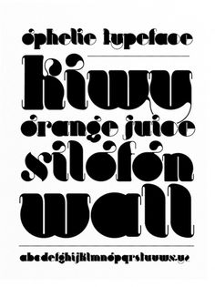 OPHELIE on the Behance Network #typography