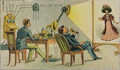 I Heart Chaos — The year 2000 as envisioned in the year 1910 #vintage #technology #video #skype