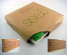Grass - Sustainable Packaging Design #packaging #design #graphic #3d
