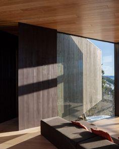 Lund Hagem installs Y-shaped cabin on hilltop above Norwegian ski resort #norway #interiors #architecture #modern #nordic