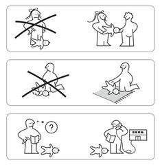 "Audrey Clayton: ""BAB, the Ikea baby"" (PDF) –... | skandalon #line #blackwhite #illustration #ikea #outline"