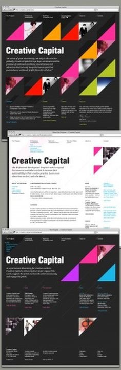 Creative Capital Website — Work — AREA 17 #design #web
