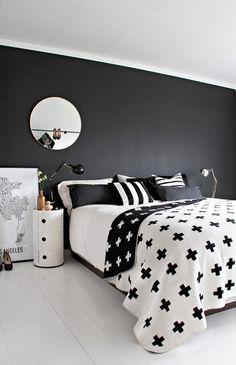 desire to inspire desiretoinspire.net #interiors #white #black #and