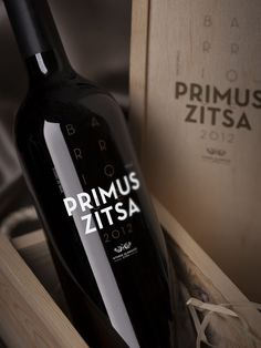 Primus Zitsa Barrique - grab . the . eye . | design & visual communication #branding #packaging #wine #zitsa #primus #typography