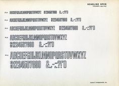 Headline Open was a font by typefoundry Amersterdam. #type #specimen #typography