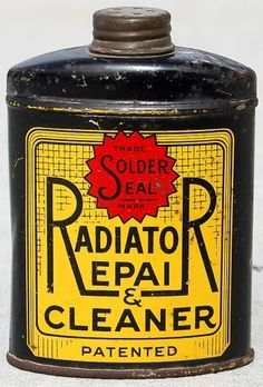 All sizes | Radiator Repair & Cleaner, 1921 | Flickr - Photo Sharing! #vintage #label