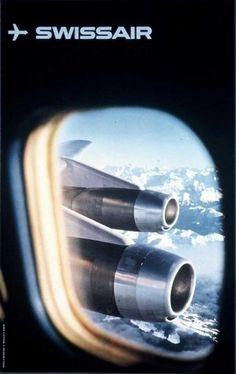 Retro Swissair posters and ads - Jared Erickson | Jared Erickson