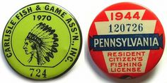 Typography / U.S vintage fishing and hunting permit graphics, type #butons