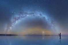 Mind-Blowing Photos of the Milky Way Reflected in Bolivia Salt Flats by Daniel Kordan