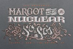Margot & the Nuclear So & Sos - Luke Shuman Design #shuman #screen #print #typography