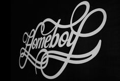 Homeboy process #lettering #white #letters #homeboy #black #yerthekid #typography