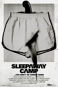 Sleepaway Camp - Silver Screen Society #movie #schaefer #silver #design #sleepaway #camp #screen #poster #brandon #layout #society #bw