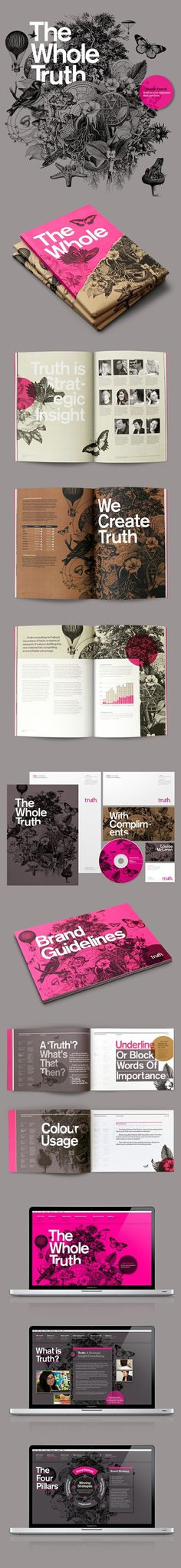 Truth Branding by Socio Design #layout #design #graphic #branding