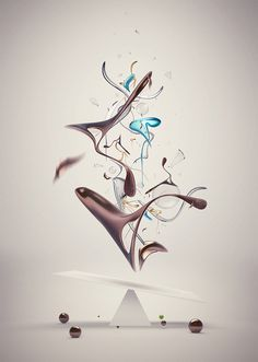 By Elias Klingén #render #elias #klingen #shapes #digital #illustration #art #collage