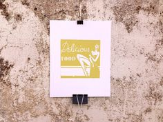 Delicious Food - 8 x 10 Mini Poster #kitsch #retro #girlie #illustration #vintage #etching #matchbook #art #burlesque