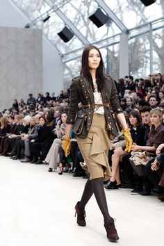 Burberry Fall/Winter 2012 « The Sartorialist #fashion #burberry #runway #photography