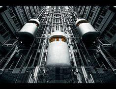 Ludwig Erhard Haus by Ralf Wendrich #erhard #ludwig #haus #modern #ralf #futuristic #future #photography #architecture #elevator #wendrich