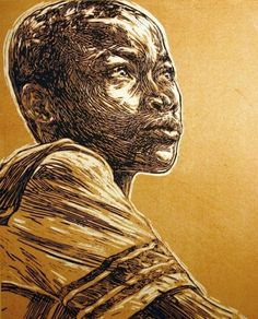 "OMG Posters! » Archive » ""Walki"" Charity Art Print by Swoon #haiti #crosshatch #poster"